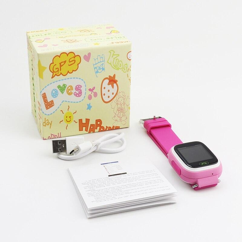 Смарт-часы Детские GPS SOS Q90 дети расположение устройство для слежения за ребенком Wi-Fi русский Смарт-часы для детей Sim карты на запястье с функцией ответа на вызов