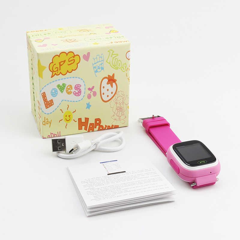 Smart Watch Kids Baby GPS SOS Q90 Children Location Tracker Child Wifi Russian Smart Watch Kids Sim Card On Wrist Answer Call