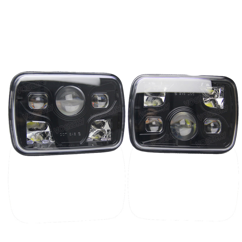 VOSICKY 5X7 led headlight Daymaker trucklight High Low Beam Headlamp Sealed  Replacement DOT for Fits H6014, H6052, H6054