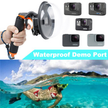 Go Pro Hero5 Hero7 Mask waterproof Dome Port for GoPro Hero 5 hero6 Hero7 Camera Lens Dome Waterproof Case diving Accessories цена
