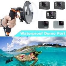 цена на Go Pro Hero5 Hero7 Mask waterproof Dome Port for GoPro Hero 5 hero6 Hero7 Camera Lens Dome Waterproof Case diving Accessories