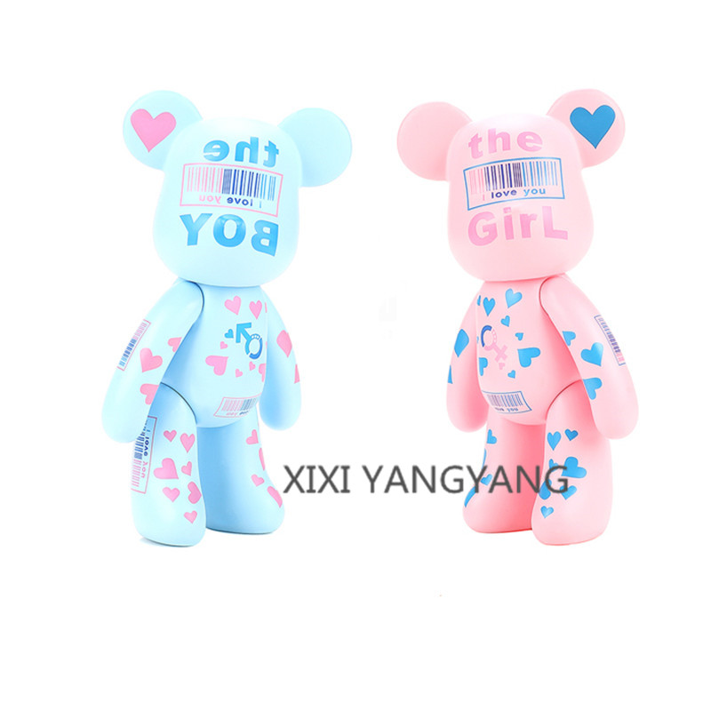 5 Inch 2 Style Bearbrick Be@rbrick Gloomy Couples Bear PVC Action Figure Collectible Model Toy OPP bag Q430