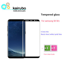 9H 3D Full Curved Screen Protector Tempered Glass For Samsung Galaxy S8 Plus 100pcs