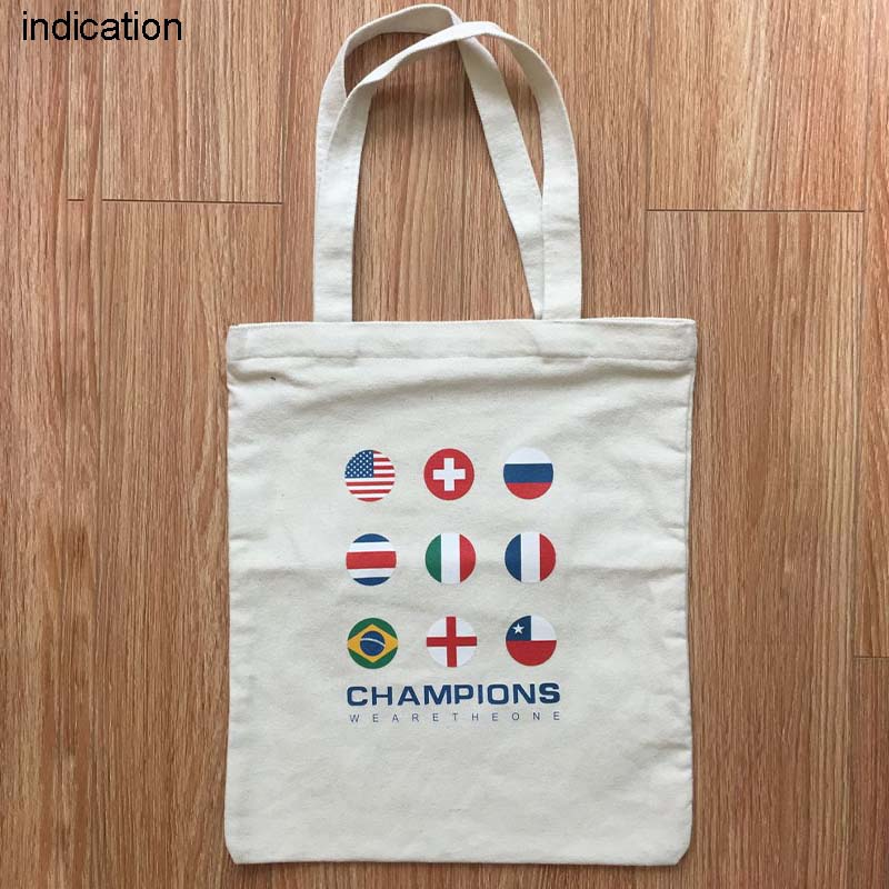 150Pcs Customized Logo 31Cm*36Cm Tote Bag Cotton Shopping Bag Plain Nature Cotton Canvas Shoulder Bags No Zipper