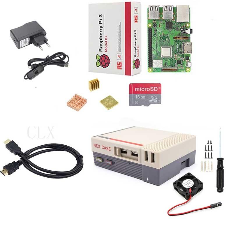 Raspberry Pi 3B/3B+(plus)+Raspberry Pi Retroflag Box+16GB+ fan+power supply+heat sink+HDMI for Raspberry pi 3B/3B+ каталог bratz
