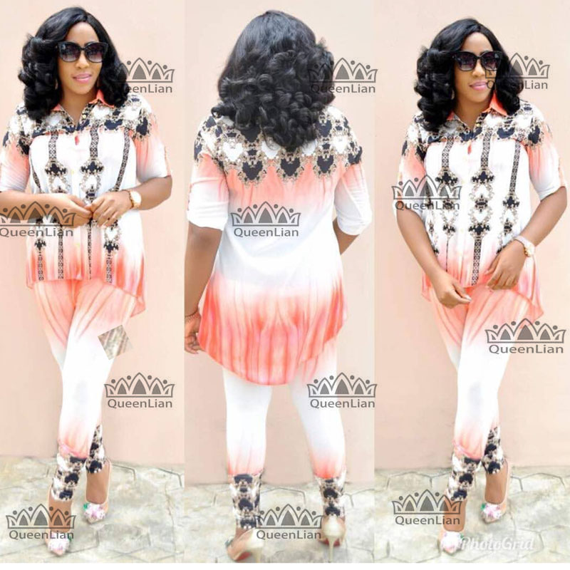 2018 New (Size:L-XXXXL)African Clothes For Lady Fashion Dashiki Top And Pants Suit Chiffon Dress   XFTZ02#