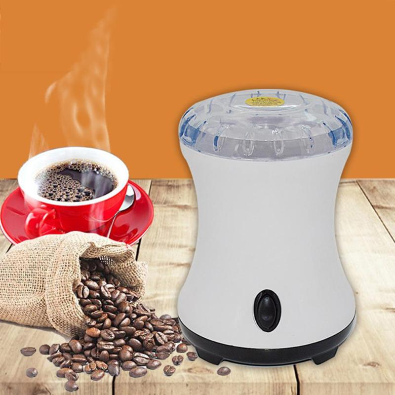 300W Portable Electric Coffee Grinder Machine Household Nuts Seeds Coffee Bean Grinding Miller Machine Burr Grinder EU Plug burr grinder coffee bean miller electric 220v electric coffee grinder coffee grinding machine powder mill