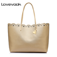 LOVEVOOK Brand Fashion Women Shoulder Bags Large Capacity Ladies Casual Totes Flower Hollow Female Handbags For