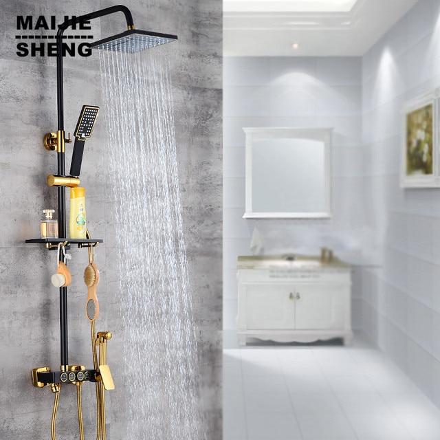 Maijiesheng Noir or douche ensemble salle de bains de luxe quatre ...