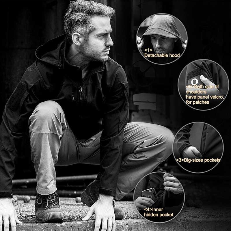 を無料の兵士屋外スポーツキャンプハイキング防水防風男性のジャケット暖かい外す裏地 (別途販売)