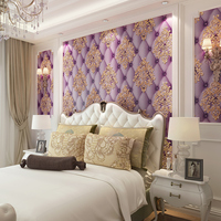 Modern 3D colorful three dimensional relief wallpaper TV wall bedroom living room wallpaper Blue purple brown