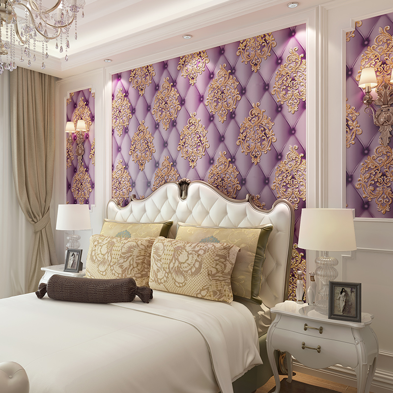 Modern 3D colorful three-dimensional relief wallpaper TV wall bedroom living room wallpaper Blue purple brown custom large modern mural painting three dimensional relief flower 3d tv setting wall wallpaper