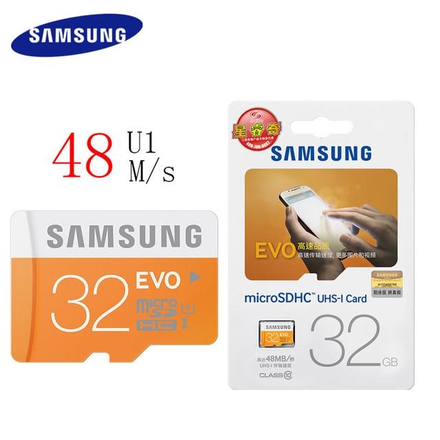 SAMSUNG Original Storage Card 128GB 64GB 32GB 16GB 48M/s C10 EVO MicroSD Class10TF Memory Card SDHC SDXC UHS-1 Free Shipping