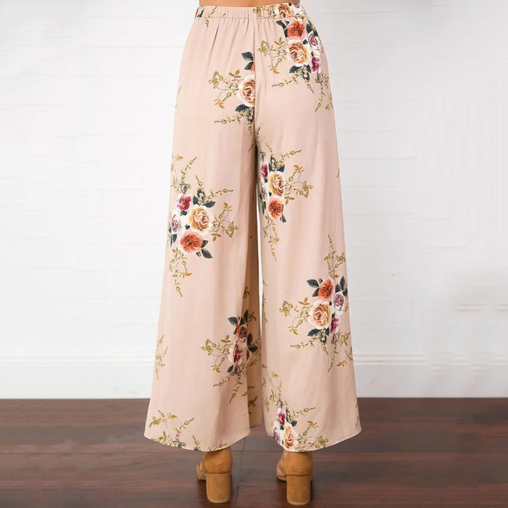 Pants & Capris Delicious 2018 New Fashion Hot Popular Womens High Waisted Palazzo Pants Wide Leg Loose Chiffon Long Trousers