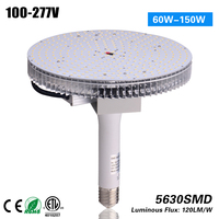 2017 hot selling 14400 Lumens LED Round High Bay Light Fixture 120 W 400W Replacement DLC ETL listed led high bay light