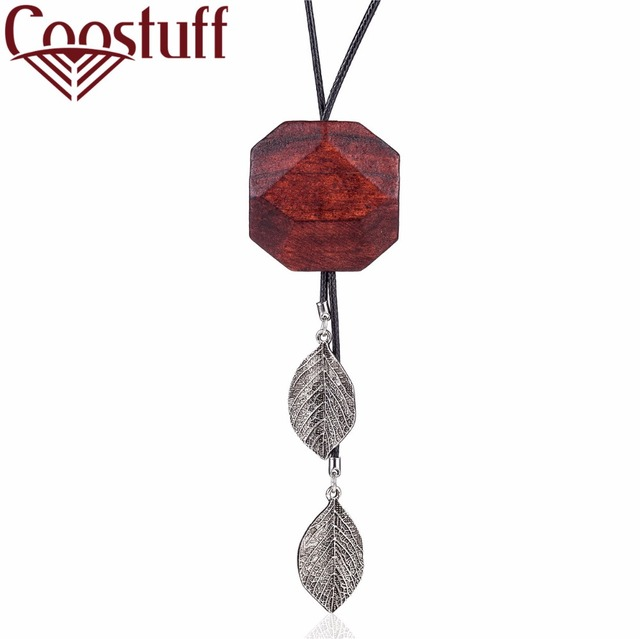 Vintage wood leaf pendant women jewelry statement necklaces vintage wood leaf pendant women jewelry statement necklaces pendants wholesale choker long necklace colar aloadofball Choice Image