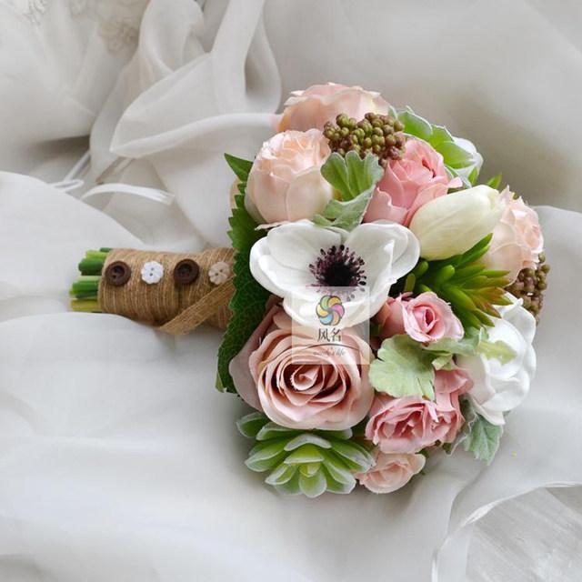 Online Shop Handmade Wedding Bouquet Flowers Bridesmaid Bridal ...
