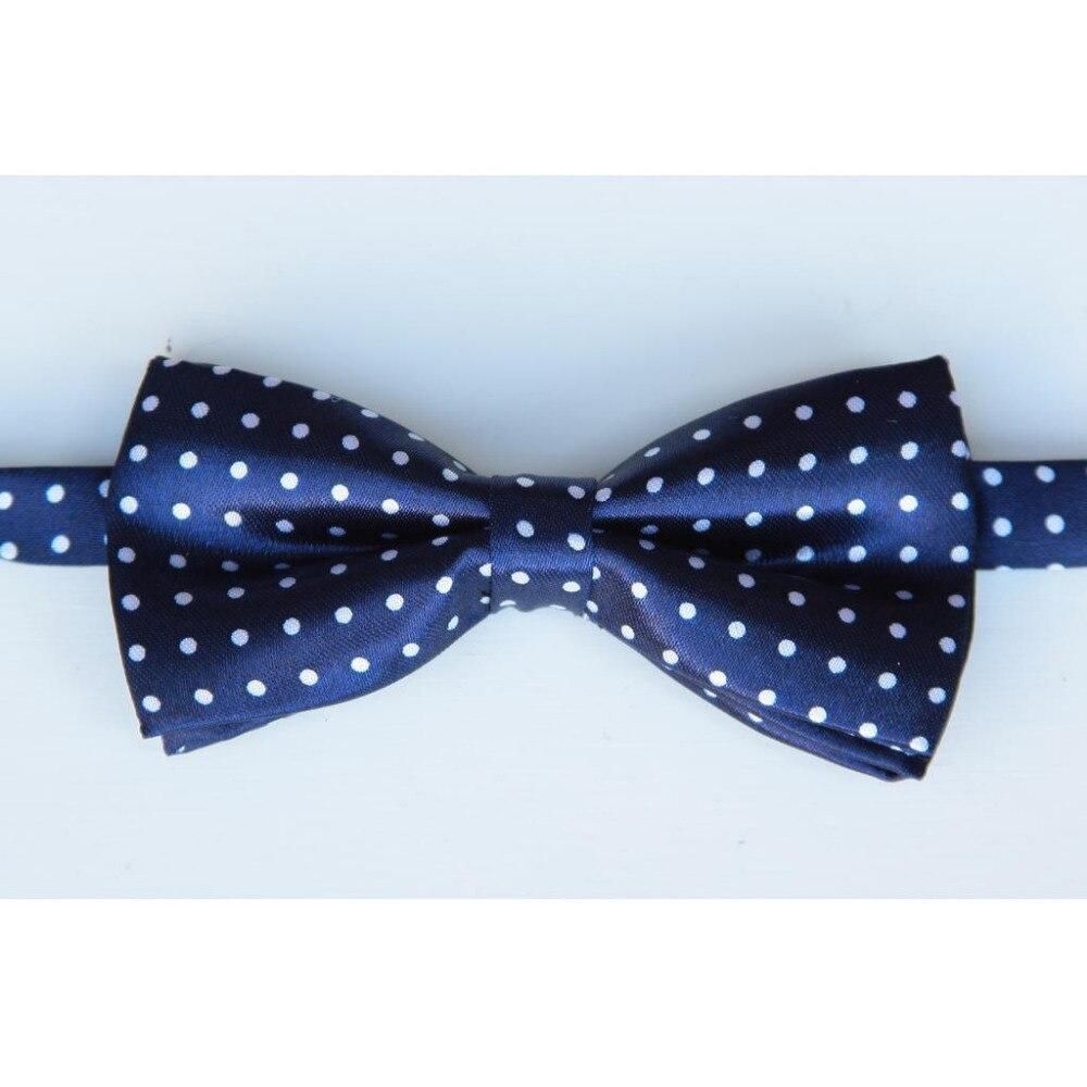Пунктирной галстуки-бабочки для мальчиков узор Галстуки белый галстук с принтом бабочкой детские подарочные Много конструкций в полоску