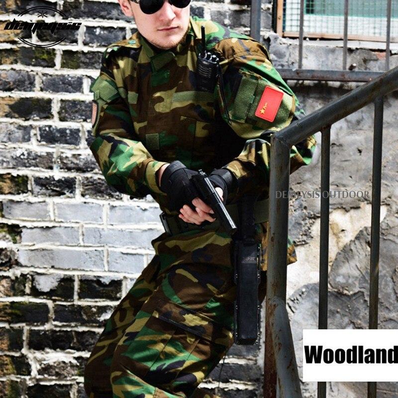 12 couleurs armée en plein air militaire uniforme Camouflage tactique hommes vêtements Forces spéciales chemise de Combat soldat formation vêtements ensemble