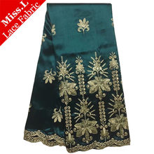 High Quality George Wrapper Fabric 5 Yards Embroidery Indian George Satin  Lace Fabric With Sequins For Woman Party Garment 2018 1652f3bd05a4