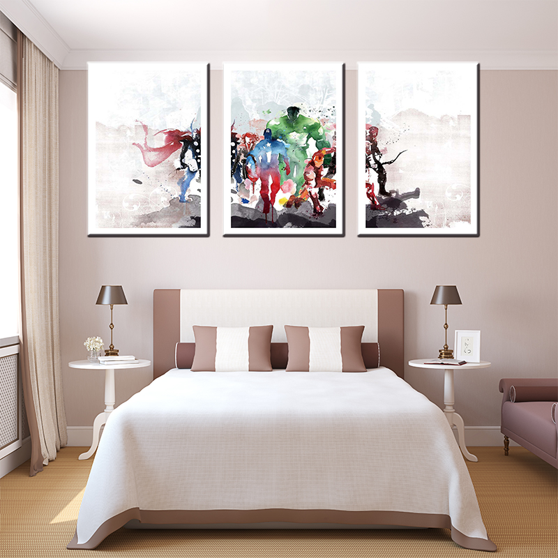 hot sales 3 panel canvas oil painting printed on canvas for living room wall art craft h ...