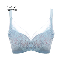 Fashwell New Women Plus Size Lace Bra Bralette Underwear Intimates Underwire Full Coverage Adjustable Sexy Bras