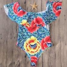 LASPERAL 2018 Off Shoulder One-piece Swimsuit Sexy Women Ruffle Floral Printed Bikini Sets Women Bathing Swimming Suit Swimwear