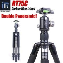 INNOREL RT75C professional video camera bracket high strength carbon fiber portable digital SLR tripod