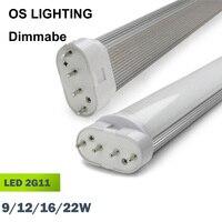 Led ống 4pin linestra 2G11 thay đổi độ sáng Đèn pll đèn PL thanh 9 Wát 12 Wát 16 Wát 22 Wát 110 v 220 v 225 mét 320 mét 415 mét 540 mét thay thế halogen