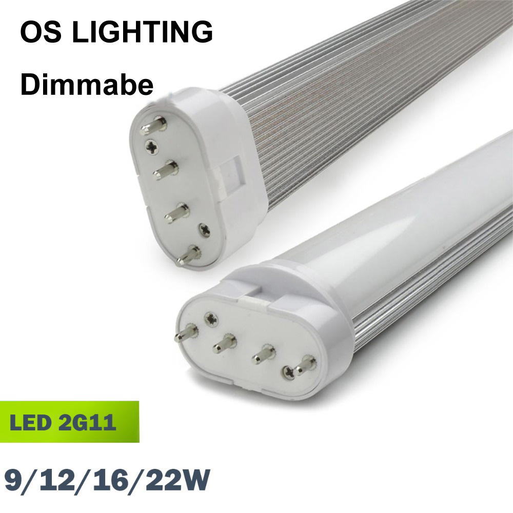 Led tube 4pin linestra 2G11 dimmable Lamp pll lamp PL bar 9W 12W 16W 22W 110v 220v 225mm 320mm 415mm 540mm replace halogen лампы special linestra spc lin 1603 цена