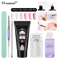 Vrenmol 30g Poly Gel Camouflage 6 Colors Extend Builder Nail Design Acrylic French Nail Tip Crystal