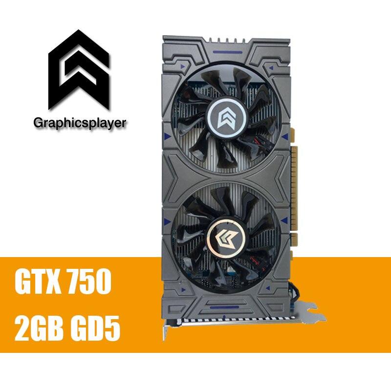 100% Original Grafikkarte GTX 750 2048 MB/2 GB 128bit GDDR5 Placa de Video carte graphique Grafikkarte für NVIDIA Geforce PC VGA