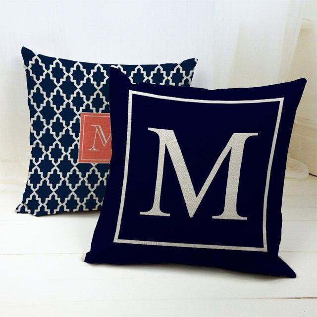 Online Shop New Design Home Decor Letter Pillow Case With Big M