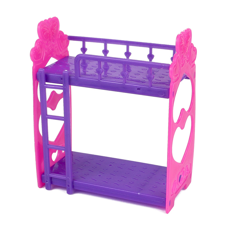 Luxury Bunk bed for dolls DIY dolls accessories dollhouse bedroom furniture miniature plastic kawaii mini small toys for girl kids t in Dolls Accessories from Minimalist - Review bunk bed furniture Lovely