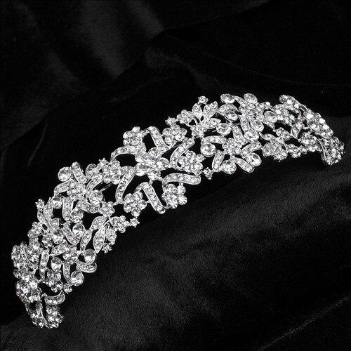bride tiaras and crowns wedding head jewelry Princess Wedding Tiara Bride Hair Headpiece Crown hair jewelry