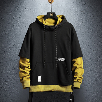Hoodie Sweatshirt Herren Hip Hop Pullover Hoodies Streetwear Casual Mode Kleidung colorblock hoodie baumwolle