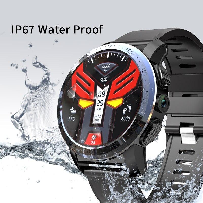 Смарт часы KOSPET Optimus Pro, 3 ГБ, 32 ГБ, 800 мАч, с двумя системами, 4G, водонепроницаемые, 8,0 МП, 1,39 дюйма, Android 7.1.1, умные часы для мужчин