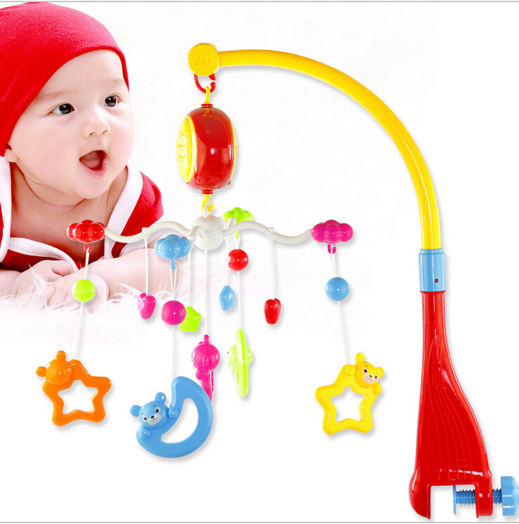 The Newborn Baby Toy Bed Bell Years Old Hanging 360 Degree Rotation With Music Kids Toys Educational Musical 0-12 Months otamatone toy music instruments for kids with 8 built in songs