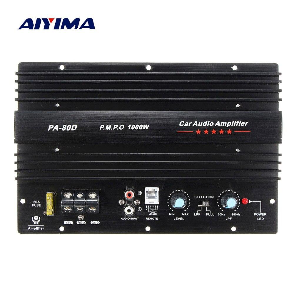 AIYIMA мощность сабвуфер автомобиля усилители аудио доска 1000 Вт звук Amplificador DIY для бас колонки автомобиля аудио системы дома ТЕАТР