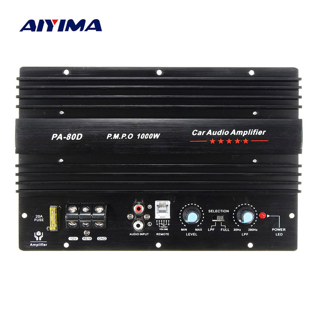 Best Price AIYIMA Power Subwoofer Car Amplifiers Audio Board 1000W Sound Amplificador DIY For Bass Speakers Car Audio System Home Theater