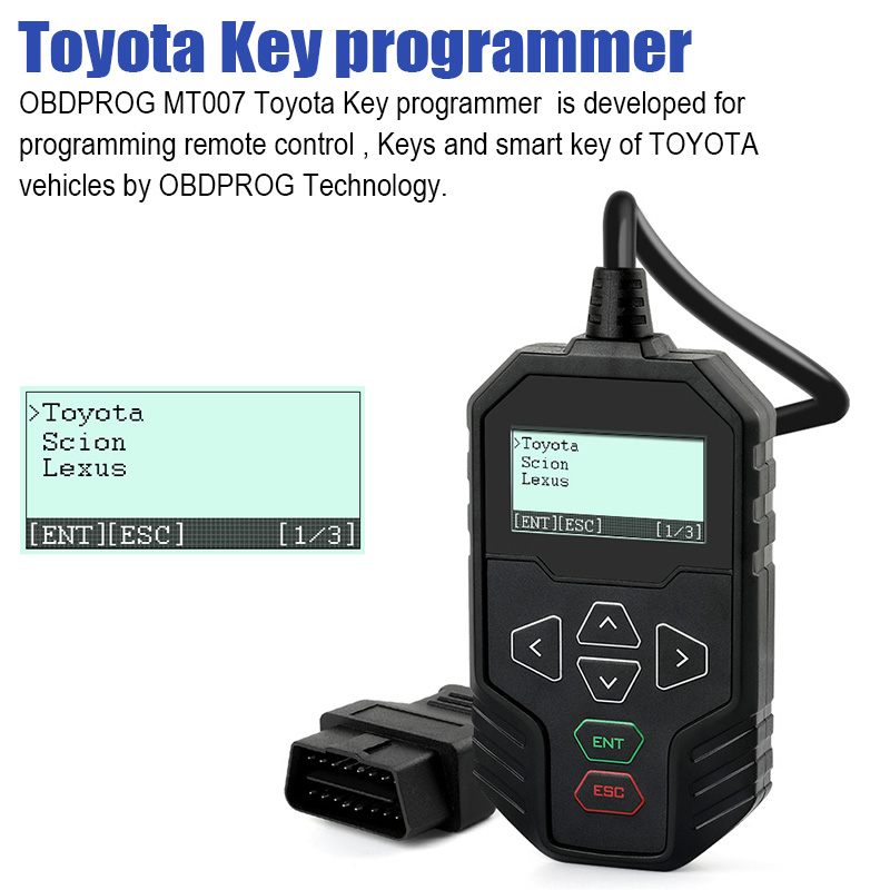OBDPROG MT007 Car Key Programming Tool For Toyota Lexus IMMO