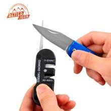Новый Портативный Мини Спорта Многофункциональный EDC Складной Керамический Карбид Алмазный Конический Точилка Карманный Открытый Инструмент заточки ножей
