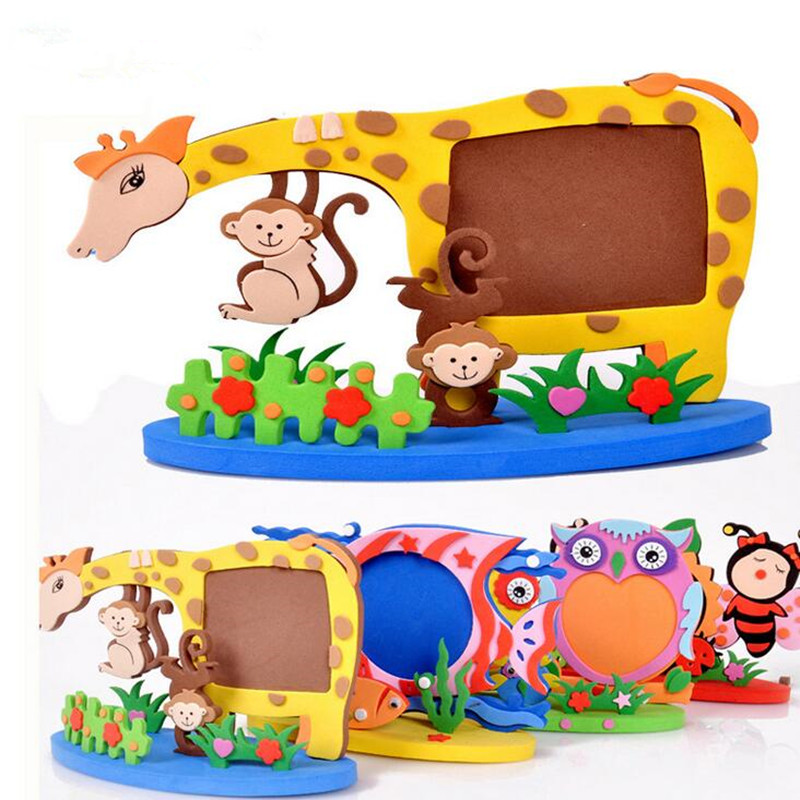 Kids Handmade Animal Photo Frame Diy Animal Picture Frame