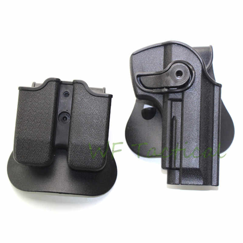 IMI DEFENSE Polymer Retention Roto Holster and double magazine holster Fits  For Beretta M9 92 96 Holster