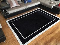 carpet rug in black and white large bedroom mats floor mat for living room or bedroom home 3D rug customize branded carpets