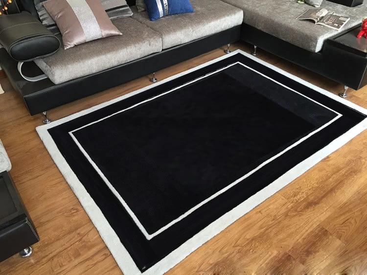 grand tapis de sol 3d en noir et blanc pour salon ou chambre a coucher tapis de marque personnalise
