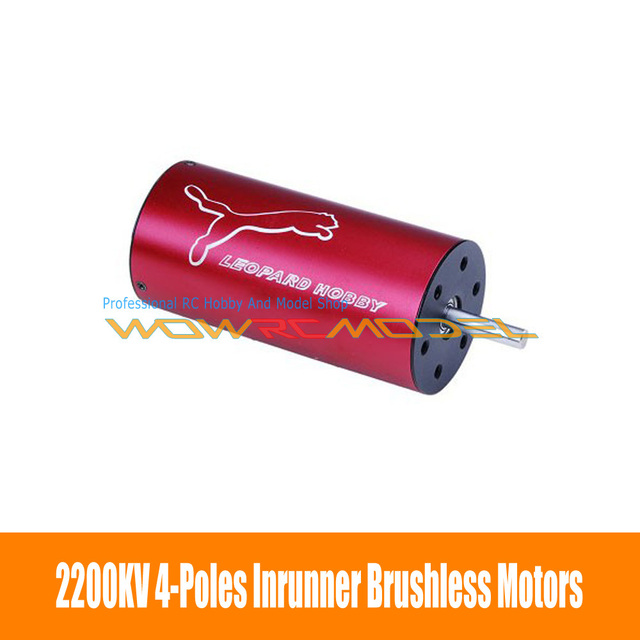 Leopard LBP36 Series LBP3674/3D 4-Poles Inrunner Brushless Motor 2200kv Red For RC Boat