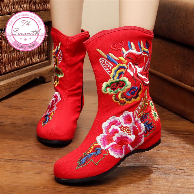 Embroidery Soft Bottom Shoes Old Beijing Cloth Shoes Size