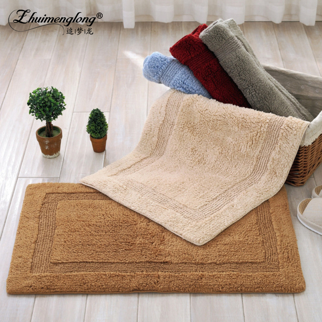 Captivating High Quality Home Textile Cotton Mat Sided Solid Anti Slip Rectangular Floor  Mats Kitchen Living Part 17
