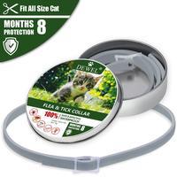 Dewel ошейник для кошек, щенков, против блох, комаров, клещей, водонепроницаемый, для кошек, блох, ошейник для маленьких собак, питомцев, защита 8...